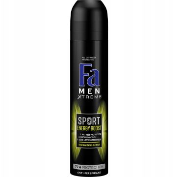 Fa Men Xtreme Sports Energy Boost Anti-perspirant antyperspirant w sprayu dla mężczyzn (250 ml)