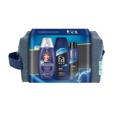 Fa Men Zestaw prezentowy Sport Żel pod prysznic 250ml+ Dezodorant spray 150ml+ Szampon250ml (1 szt.)