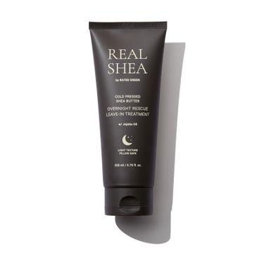 Rated Green – Regenerująca kuracja do włosów zniszczonych na noc Real Shea (200 ml)