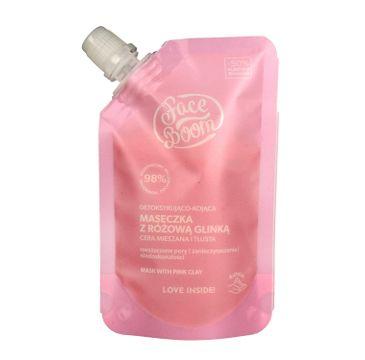 FaceBoom – Maseczka z różową glinką detoksykująco-kojąca (40 g)