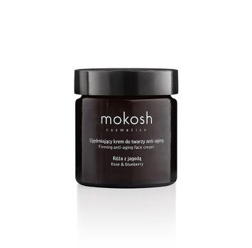 Mokosh – Facial Cream Anti-aging Rose & Bluberry ujędrniający krem do twarzy anti-aging Róża z Jagodą (60 ml)