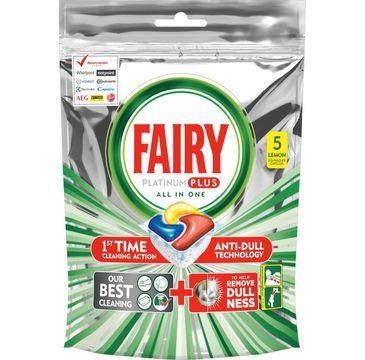 Fairy kapsułki do zmywarek Cytryns Platinum Plus (5 szt.)