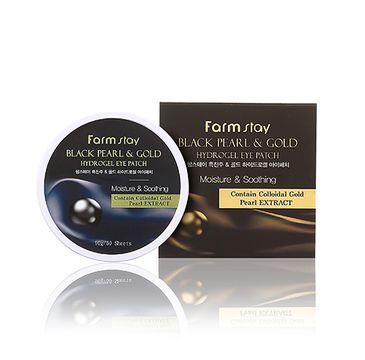 Farm Stay Black Pearl & Gold Hydrogel Eye Patch hydrożelowe płatki pod oczy z czarną perłą i złotem (60 szt.)