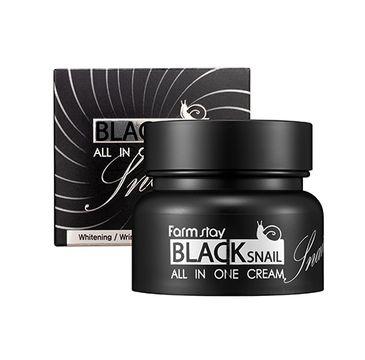 Farm Stay – Black Snail All in One Cream krem do twarzy all-in ze śluzem czarnego ślimaka (75 ml)