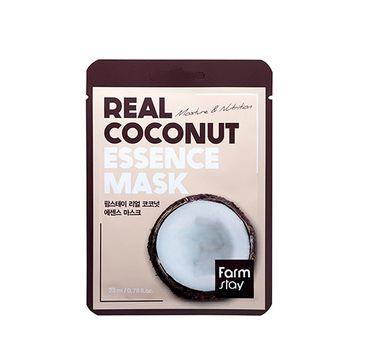 Farm Stay – Real Coconut Essence Mask nawilżająca maseczka w płachcie z ekstraktem kokosa (23 ml)