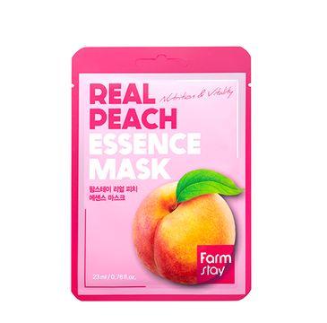 Farm Stay – Real Peach Essence Mask odżywcza maseczka w płachcie z ekstraktem brzoskwini (23 ml)