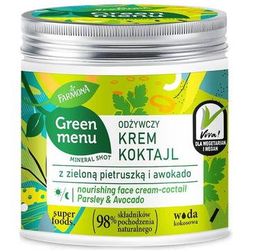Green Menu Odżywczy krem koktajl z zieloną pietruszką i awokado (75 ml)