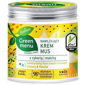 Green Menu Nawilżający krem mus z cykorią  i matchą (75 ml)