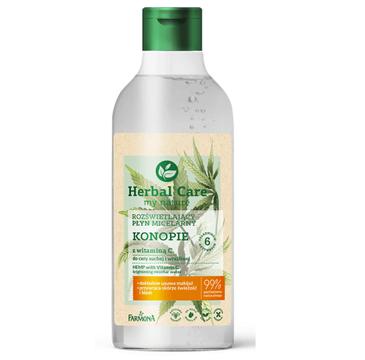 Herbal Care Płyn micelarny Konopie z witaminą C do cery bardzo suchej (400 ml)