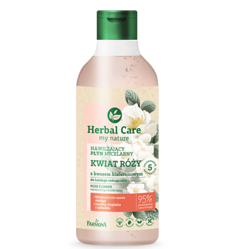 Herbal Care Płyn micelarny Kwiat Róży z kwasem hialuronowym (400 ml)