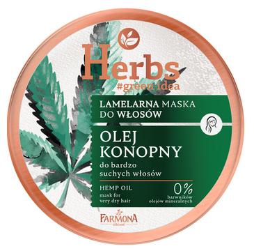 Farmona Herbs Lamelarna maska Olej Konopny (250 ml)