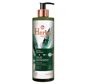 Farmona Herbs Nutri szampon Olej Konopny (400 ml)