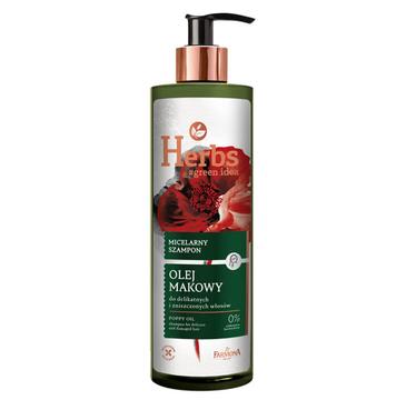 Farmona Herbs micelarny szampon do włosów Olej Makowy (400 ml )