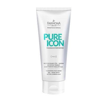 Farmona Professional – Pure Icon oczyszczający żel - maska do mycia twarzy z aktywnym węglem (200 ml)