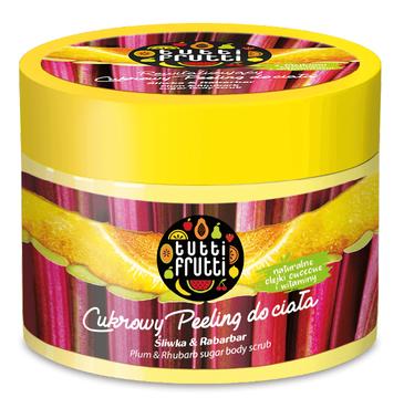 Tutti Frutti Cukrowy Peeling do ciała Śliwka&Rabarbar (300 ml)