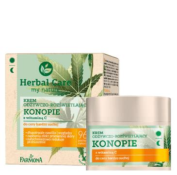 Herbal Care Krem odżywczo-rozświetlajacy Konopie z witaminą C do cery bardzo suchej (50 ml)