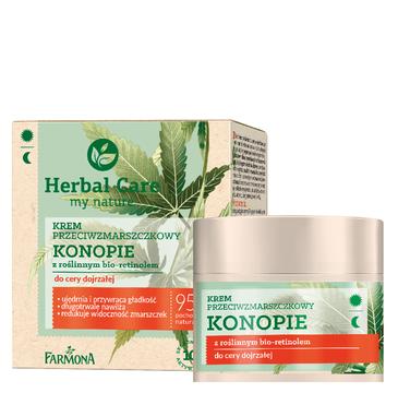 Herbal Care Krem przeciwzmarszczkowy Konopie z roślinnym bio-retinolem do cery dojrzałej (50 ml)