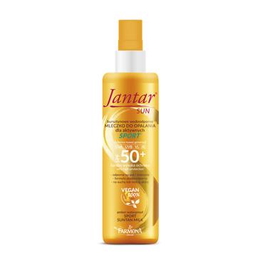 Jantar – Sun Bursztynowe wodoodporne mleczko do opalania Sport SPF 50+ (200 ml)