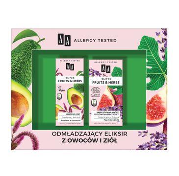 AA – Super Fruits & Herbs zestaw krem dzienno-nocny przeciwzmarszczkowy 50ml + krem pod oczy 15ml (1 szt.)