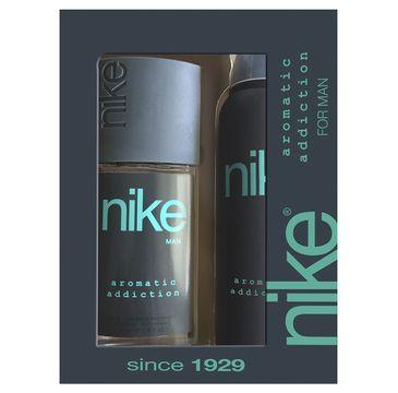 Nike – Zestaw prezentowy Aromatic Addiction for man dezodorant w szkle 75ml+dezodorant spray 200ml (1 szt.)