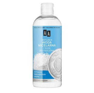 AA Skin Food – matująca woda micelarna z sodą oczyszczoną do cery tłustej i mieszanej (400 ml)