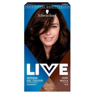 Schwarzkopf – Live Intense Gel Colour koloryzacja do włosów w żelu 4.0 Dark Mocca (1 szt.)