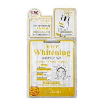 Bergamo 3 Step Whitening Mask – 3-etapowa maseczka rozjaśniająca z witaminą B3 (28 ml)