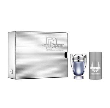 Paco Rabanne – Invictus zestaw woda toaletowa spray 50ml + dezodorant sztyft 75ml (1 szt.)