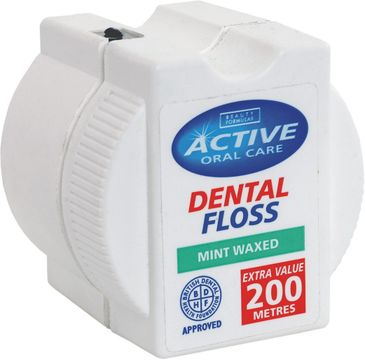 Active Oral Care – Dental Floss nić dentystyczna woskowana Mint (200 m)