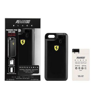 Ferrari Black zestaw woda perfumowana 2x25ml wkład + obudowa na telefon iPhone 6 & iPhone 6s