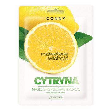 Conny Lemon Essence Mask – rozświetlająca maseczka w płachcie Cytryna (23 g)