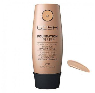 Gosh Foundation Plus+ podkład kryjąco-korygujący 006 Honey 30 ml
