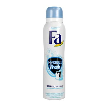 Fa Invisible Fresh 48h - dezodorant spray Lily Of The Valley (150 ml)
