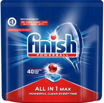 Finish All in 1 Max tabletki do zmywarki regularne (40 szt.)