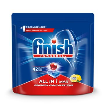 Finish All in 1 Max - tabletki do zmywarki 42 szt. cytrynowe