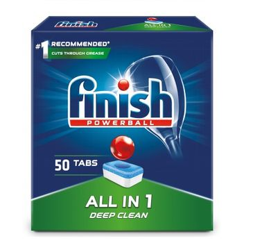 Finish All in 1 tabletki do zmywarki 50 sztuk regularne