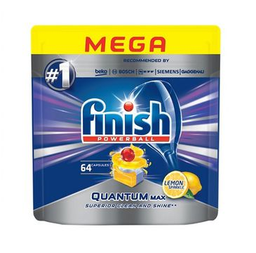 Finish Quantum Max tabletki do zmywarki 64 sztuk cytrynowe