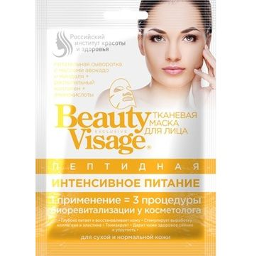 Fitokosmetik Beauty Visage maseczka na tkaninie peptydowa 25 ml