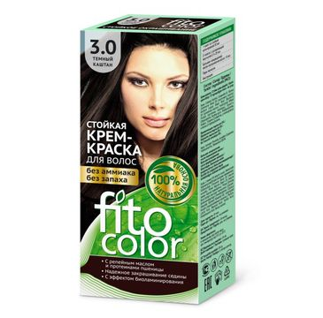Fitokosmetik Fitocolor farba krem do włosów nr 3.0 ciemny kasztan (80 ml)