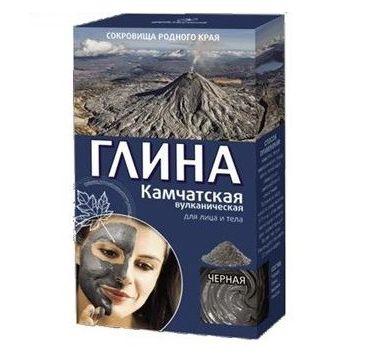 Fitokosmetik glinka kosmetyczna do twarzy i ciała wygładzająca czarna kamczacka 100 g