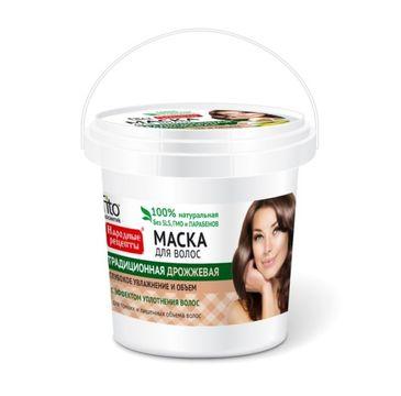 Fitokosmetik Przepisy Ludowe maska do cienkich włosów drożdżowa wiaderko (155 ml)
