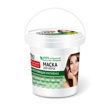 Fitokosmetik Przepisy Ludowe maska do włosów zniszczonych pokrzywowa wzmacniająca (155 ml)