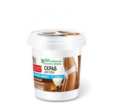 Fitokosmetik Przepisy Ludowe Scrub peeling do każdego typu skóry kawowy odmładzający wiaderko (155 ml)