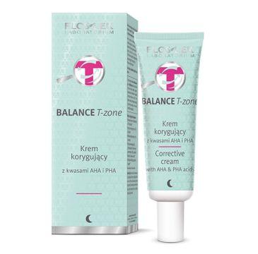Floslek Balance T-zone krem korygujący z kwasami AHA i PHA 50 ml