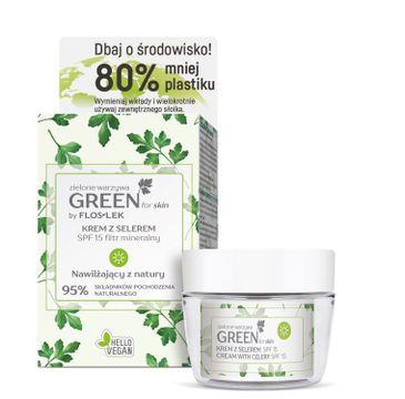 Floslek Green for Skin Krem z selerem na dzień SPF15 nawilżający Eco Zestaw (50 ml)
