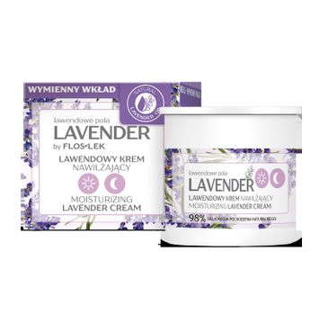 Floslek Lavender lawendowe pola Lawendowy krem nawilżający na dzień i na noc - wkład (50 ml)