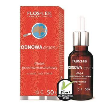 Floslek Odnowa Argan+ 50+ olejek przeciwzmarszczkowy na twarz szyję i dekolt 30 ml