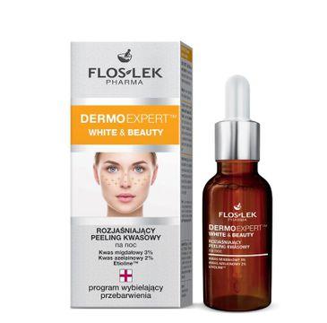 Floslek Pharma Dermo Expert White & Beauty peeling kwasowy rozjaśniający na noc 30 ml