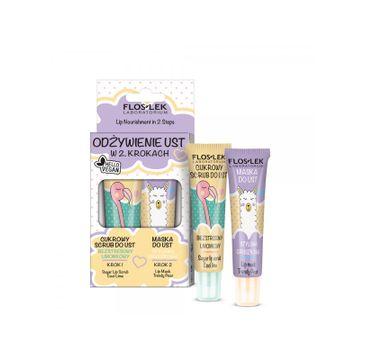 Floslek – Vege Lip Care Zestaw Odżywienie Ust W 2 Krokach (2 x 14 g)