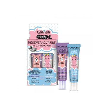 Floslek – Vege Lip Care Zestaw Regeneracja Ust W 2 Krokach (2 x 14 g)